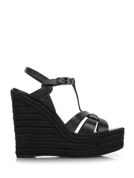 985f7800283b saint laurent Black wedge espadrilles available on alducadaosta.com ...