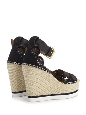 6c781217d0c0c ... SEE BY CHLOE  Black sandals with wedge