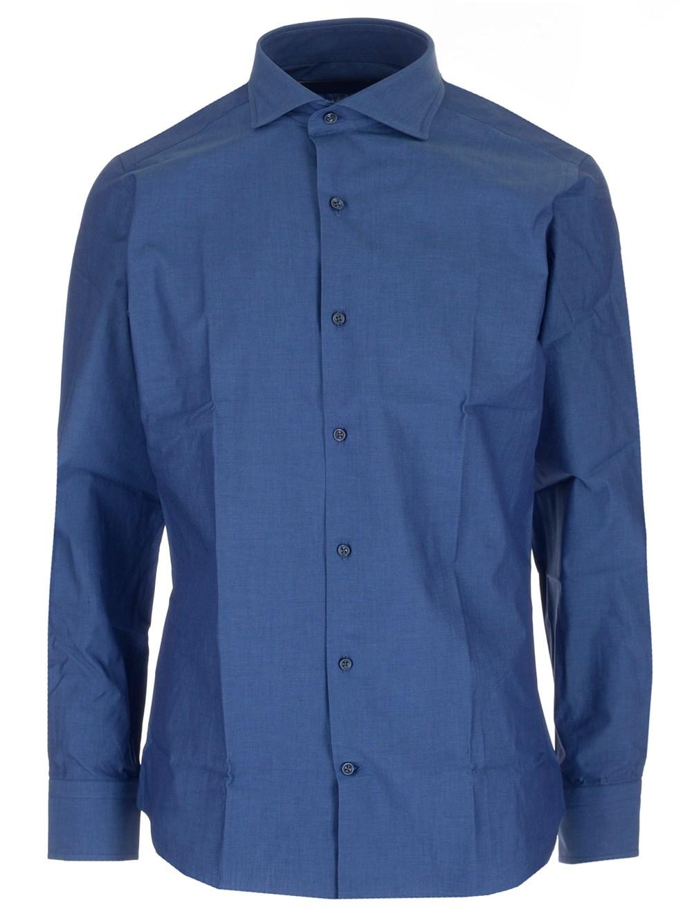 AL DUCA D'AOSTA Blue Cotton Shirt